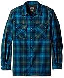 Pendleton Men's Big & Tall Long Sleeve Board Shirt, Turquoise/Green Plaid, LG