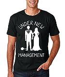Funnwear Under New Management - Bachelorette Party Premium Men's T-Shirt (Large, Black)