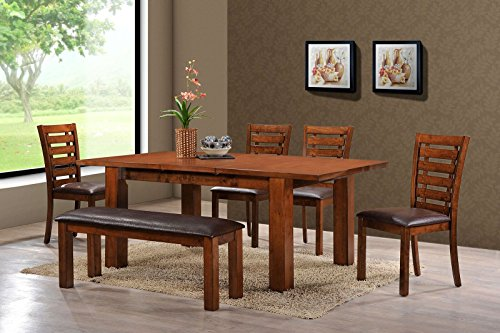 Holland House Pearington Rectangle Wood Oak Kitchen/Dining Table, Peacan Oak Finish
