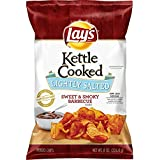 Lay's Kettle Cooked Lightly Salted Sweet & Smoky BBQ, 8 Ounce