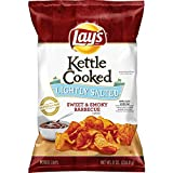 kettle chip bbq - Lay's Kettle Cooked Lightly Salted Sweet & Smoky BBQ, 8 Ounce