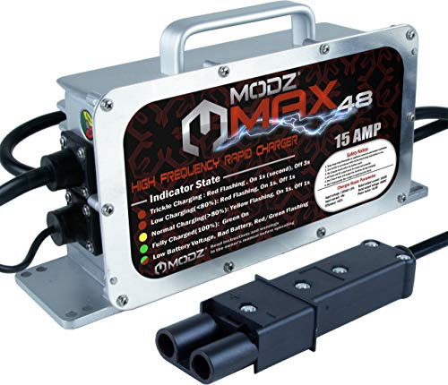(MODZ Max48 15 AMP Yamaha G19 - G22 Battery Charger for 48 Volt Golf Carts)
