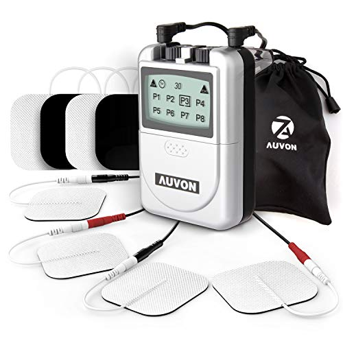- AUVON Digital TENS Unit, Professional Transcutaneous Electrical Nerve Stimulation Machine with Superior Quality and Proven Effectiveness for Drug-Free Pain Relief (8 TENS Electrodes Pads Included)