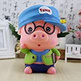 Kawaii Cute Cartoon Male doctor Mr. pig Piggy Bank Resin Personalized Baby Nursery Decor Home Furnishing decoration