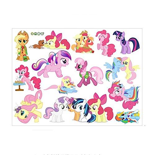 Fangeplus R DIY Removable Cartoon Pony My Little Pony: Friendship Is Magic Cute Cartoon Anime Art Mural Vinyl Waterproof Wall Stickers Kids Room Decor Nursery Decal Sticker Wallpaper (Pony Mural)