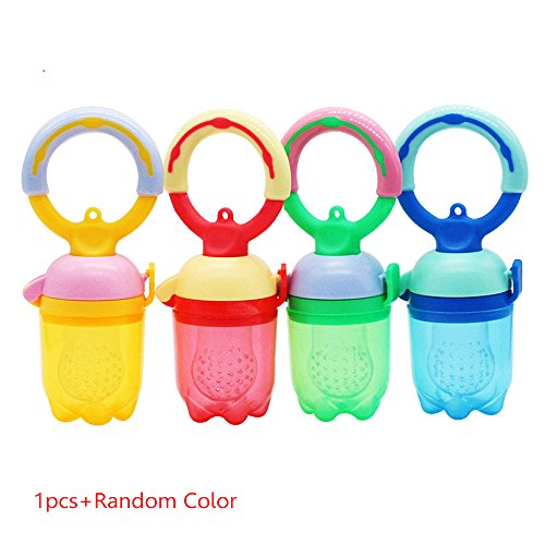 7 Pcs Baby Pacifier Fruits And Vegetables Nipple Blue - 2