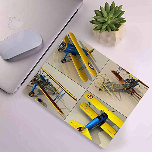 Mouse Pad Rectangle Mouse Pad Aircraft 3D Rendering Modeling Texturing #695175 Light Weight 260mm210mm3mm