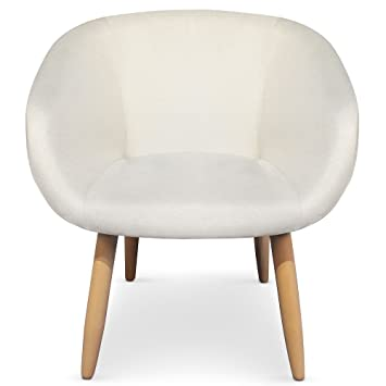 menzzo chaisefauteuil style scandinave frost beige - Fauteuil Style Scandinave