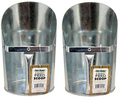 Free Range 4252 2 Quart Metal Feed Scoop by Free Range