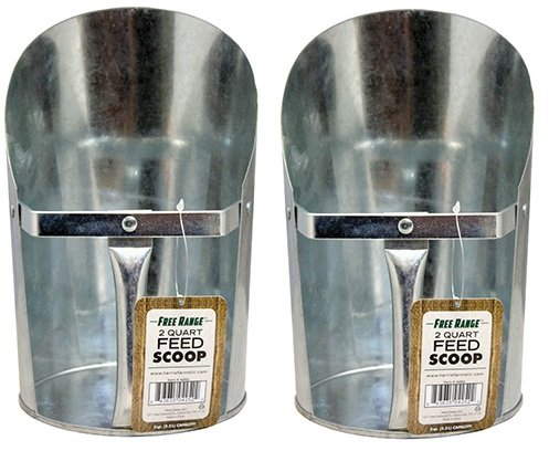 art Metal Feed Scoop (2 Quart Feed)