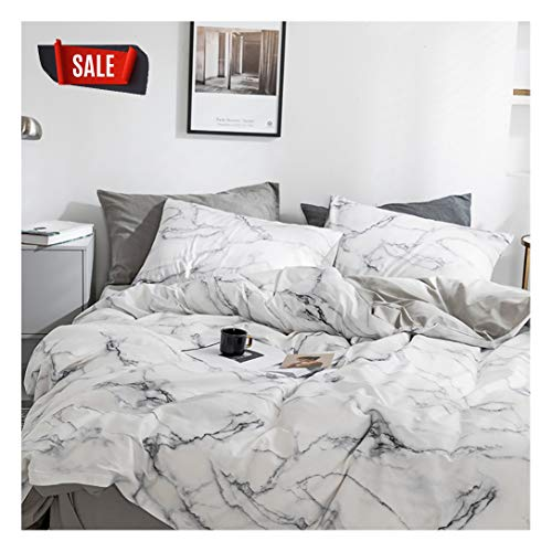 Elephant Soft Queen Duvet Cover Set, Premium Microfiber, Marble Pattern On Comforter Cover-3pcs:1x Duvet Cover 2X Pillowcases,with Zipper Closure (Full/Queen)