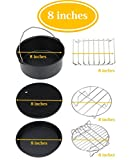 Air Fryer Accessories, 6-pieces -8 inches Premium Air Fryer Accessories Set for Gowise, Phillips, Cozyna and More Brand, Fit all 3.7QT &5.3QT &5.8QT- 8 inches