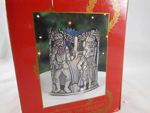 Home for the Holidays Christmas Pewter Votive Tealight Candle Holder Nutcracker # FS284 May Department Stores 1995 by May Dept Stores (Image #4)