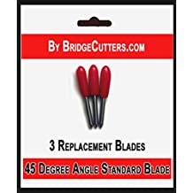 Bridge Cutters Replacement Cutting Blades Type for Cricut Cutting Machines, 3 blades