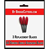 Bridge Cutters 3 Pack Blades - Replacement Fine Point Standard Cutting Blade 45 Degree Angle Type for Cricut Air Explore Expression Mini Creation Cutting Scrapbook Craft Machines