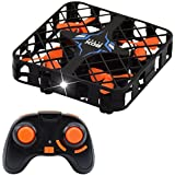 Mini RC Quadcopter Drone 2.4G 4CH 6 Axis Gyro Headless Mode Remote Control One-key Return RC Toy with LED night Lights (black)