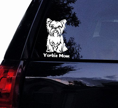 YORKIE Mom Decal - Cute Yorkshire Terrier Dog Vinyl Car Decal, Laptop Decal, Car Window Sticker (7