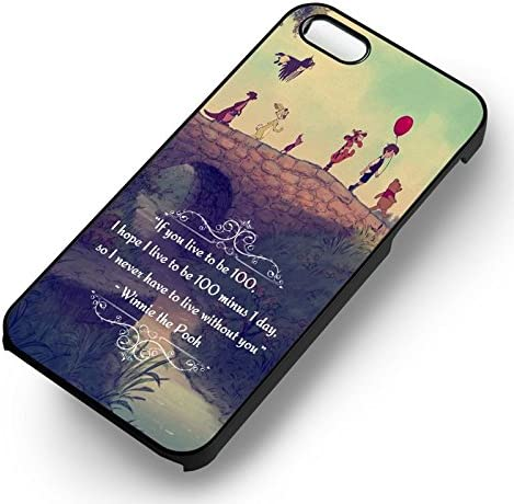 Winnie the Pooh Live to be 100 Quote iphone case