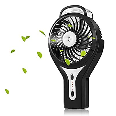 Misting Fan, NUOKIM 2 in 1 Mini Handheld USB Misting Fan with Personal Cooling, Mist Humidifier Portable for Home Office and Travel, Built in 2200mAh Rechargeable Battery.