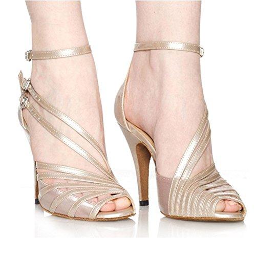 Danse Complexion Standard Chaussures International Sociale Latine Moyens Wymname Womens Bandage talons Danses Sandales De D'intérieur qw6aRxWH1t