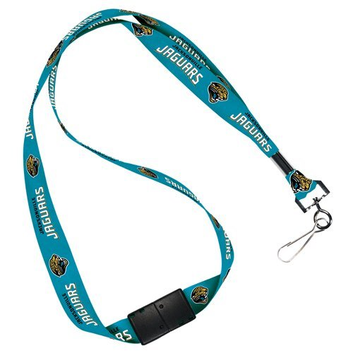 Jacksonville Jaguars NFL Lanyard Logo Clip Tag Neck Keychain with Breakaway for ID Keys Ticket Holder