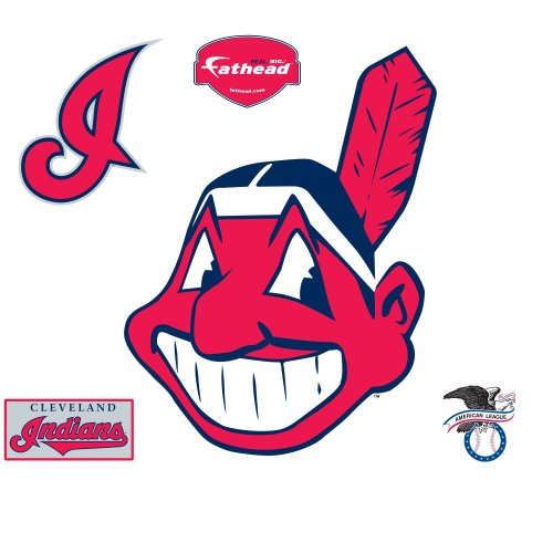 Fathead MLB Cleveland Indians Cleveland Indians: Alternate Logo - Giant Officially Licensed MLB Removable Wall -