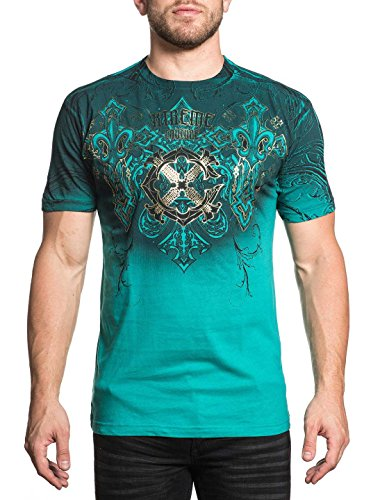 Couture Gold Foil (Xtreme Couture Men's Momentum Shift Tee Shirt Teal 2X-Large)