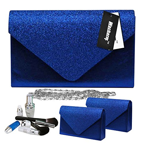 Clutch Wedding Party Bag Blue Hand Sparkle Stylish Handbags Wocharm Royal Women Glitter Bag Evening Girly ABW8xPvnq
