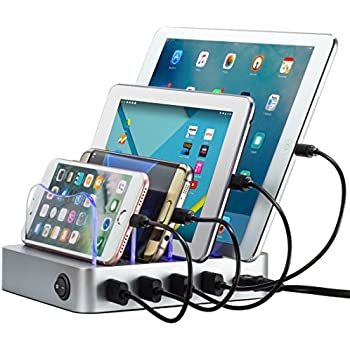 Simicore USB Charging Station Dock U0026 Organizer For Smartphones, Tablets U0026  Other Gadgets U2013 Multiple