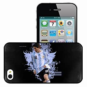 Personalized iPhone 4 4S Cell phone Case/Cover Skin Latest new lionel messi Black