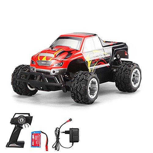 1:24 Off-Road 2WD mini RC ferngesteuertes High Speed Monstertruck Buggy, 2.4GHz Digital vollproportionale Steuerung Top-Speed bis zu 25 km/h, Komplett-Set RTR
