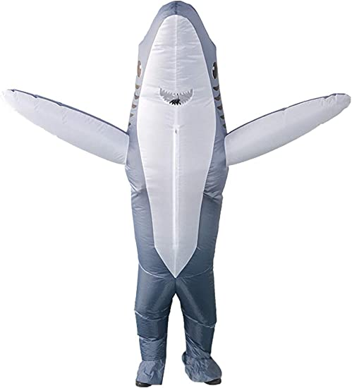 Snuter Disfraz de Tiburon Adulto Traje de Tiburon Gris Inflable ...