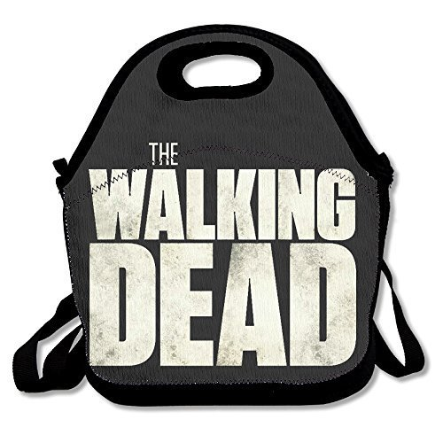 Black The Walking Dead Unisex Grocery Bags For Woman Man Kid