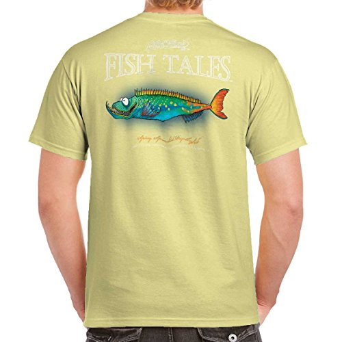 Bait Fitted T-shirt - Fishing Gill McFinn's Spiny Speckled Psychofish Fish T-Shirt X-Large