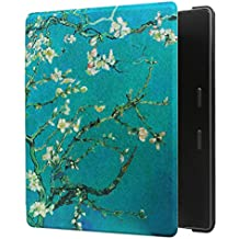 GOLINK Case for Kindle Oasis (9th Gen, 2017 Released) - Slim and Light Weight Shell Cover with Auto Wake/Sleep for Amazon Kindle Oasis-Almond Tree