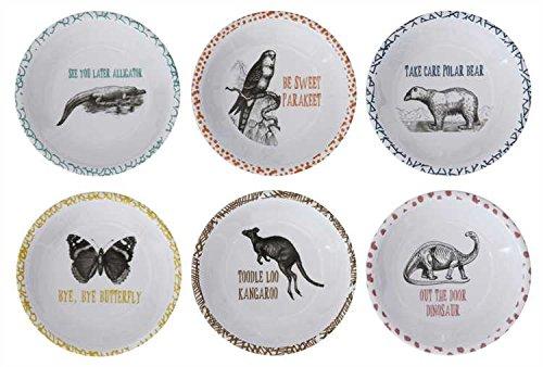 Animal Goodbyes Melamine Bowls - Set of 6
