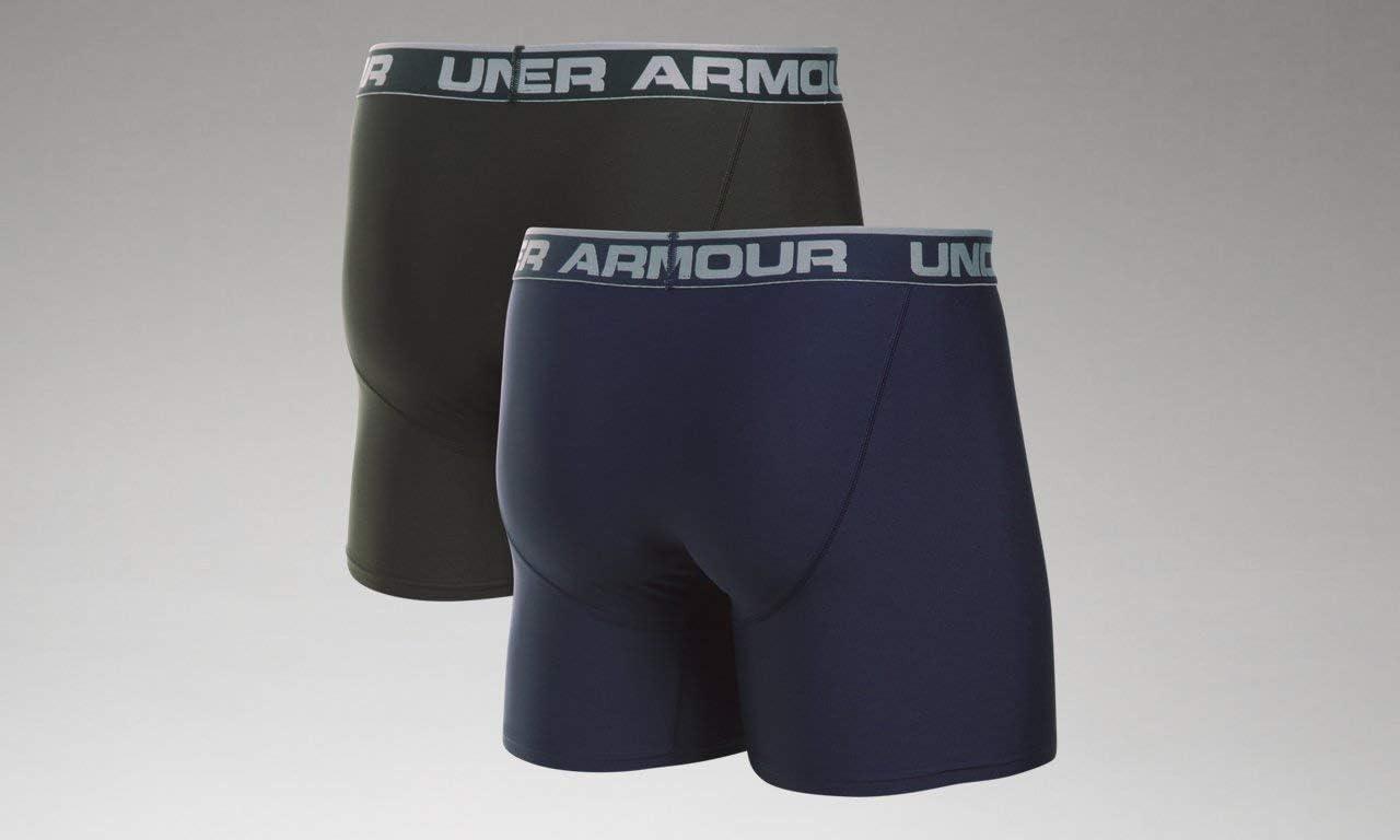2/unidades Under Armour hombres o de la serie 6/Boxers Midnight Navy// Artillery Green