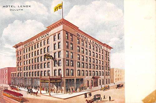 Duluth Minnesota Hotel Lenox Street View Antique Postcard -
