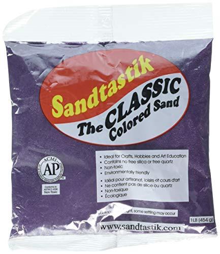 Sandtastik COL1LBPUR Sand Purple Bag 1LB, Multicolor ()
