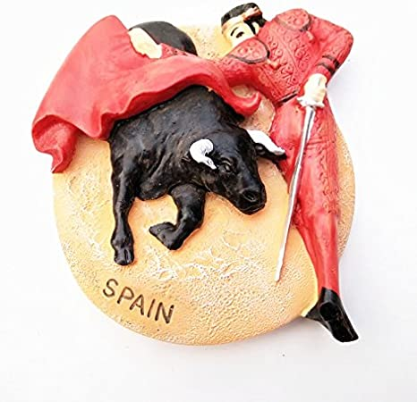 España viaje Souvenir imán de corridas de toros), mundo turismo 3d resina imán para nevera: Amazon.es: Hogar