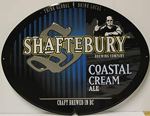 shaftebury coastal cream ale Beer Metal Sign Craft for sale  Delivered anywhere in USA