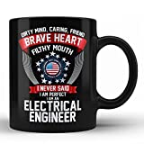 Electrical Engineer Perfect Unique Funny Sarcastic gift Typography Black Coffee Mug by HOM for Electrical Engineer Coworker Colleague Neighbour Friend