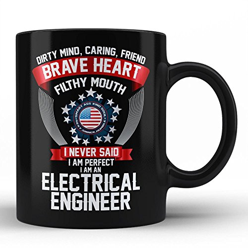 Electrical Engineer Perfect Unique Funny Sarcastic gift Typography Black Coffee Mug by HOM for Electrical Engineer Coworker Colleague Neighbour Friend by Home Of Merch