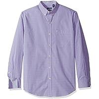 IZOD Men's Premium Performance Natural Stretch Gingham Long Sleeve Shirt (Regular and Slim Fit)
