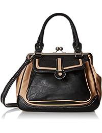 Aubrey Vintage Clasp Closure Doctor Shoulder Bag