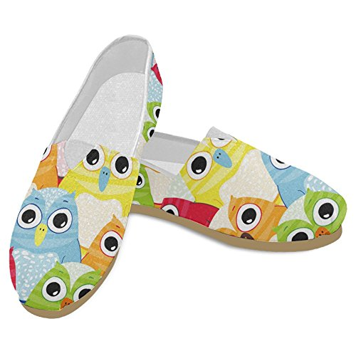 InterestPrint Womens Loafers Classic Casual Canvas Slip On Fashion Shoes Sneakers Mary Jane Flats Owl 1 nMFdUBueT