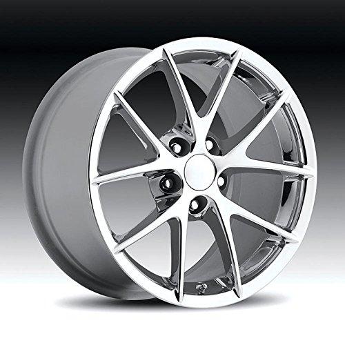 (Eckler's Premier Quality Products 25247560 Corvette C6 Z06 Spyder Wheel Chrome 18