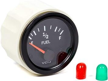 240-33 Ohms VDO 301105 Vision Style Fuel Level Gauge 2 1//18 Diameter For Select US Senders