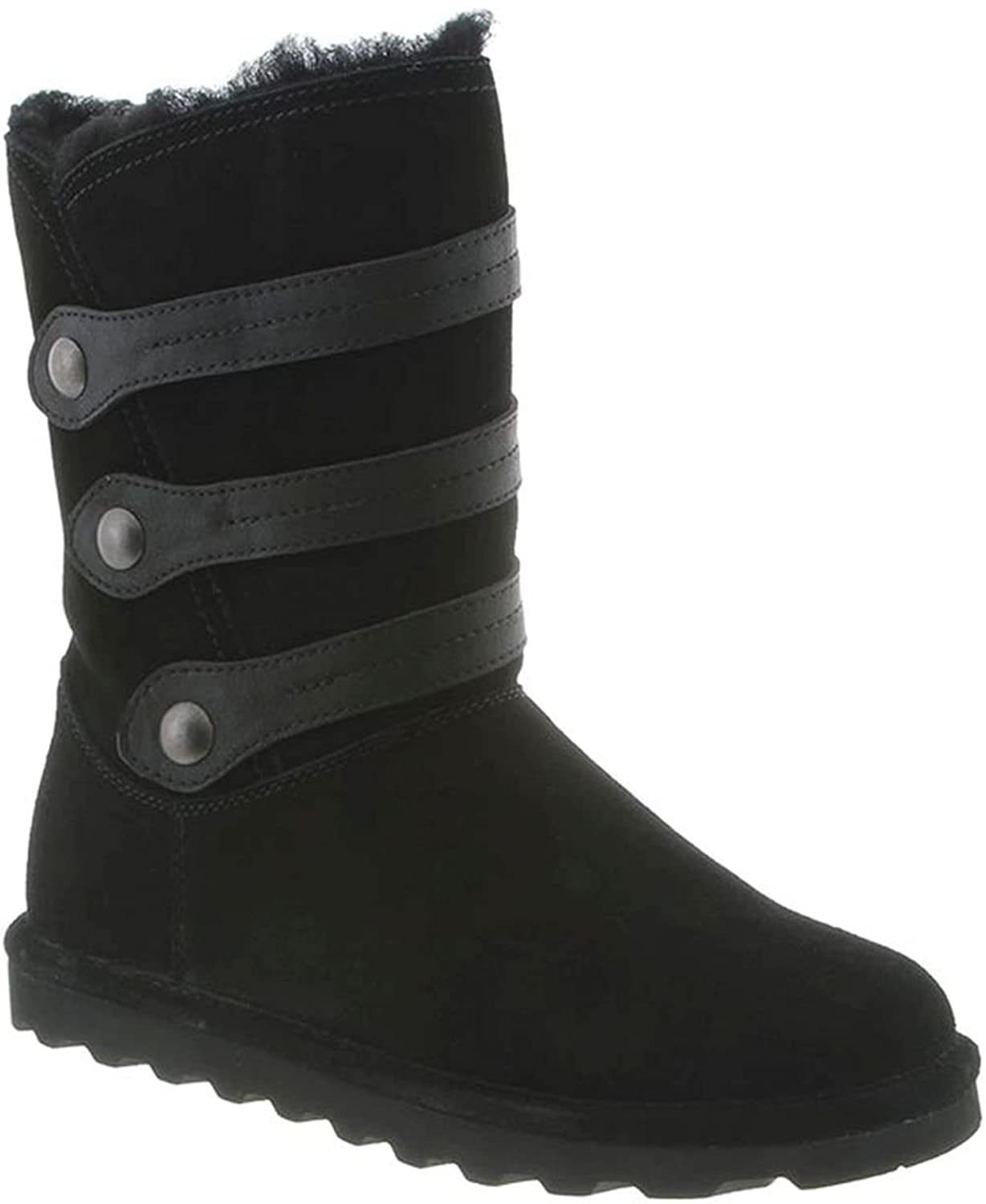 BEARPAW Women's Luna Fashion Boot, Black, 7 M US