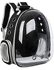 No/Brand Seven Master Cat Backpack Carrier Bubble Bag, Space Capsule Pet Carrier for Small Dogs and Large Cats, Clear Bubble Backpack for Hiking, Travel and Outdoor Use - Black
